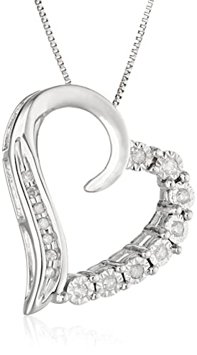 10k-White-Gold-Round-Shaped-Diamond-Heart-Pendant-Necklace-1-10-cttw-I-J-Color-I2-I3-Clarity-18-