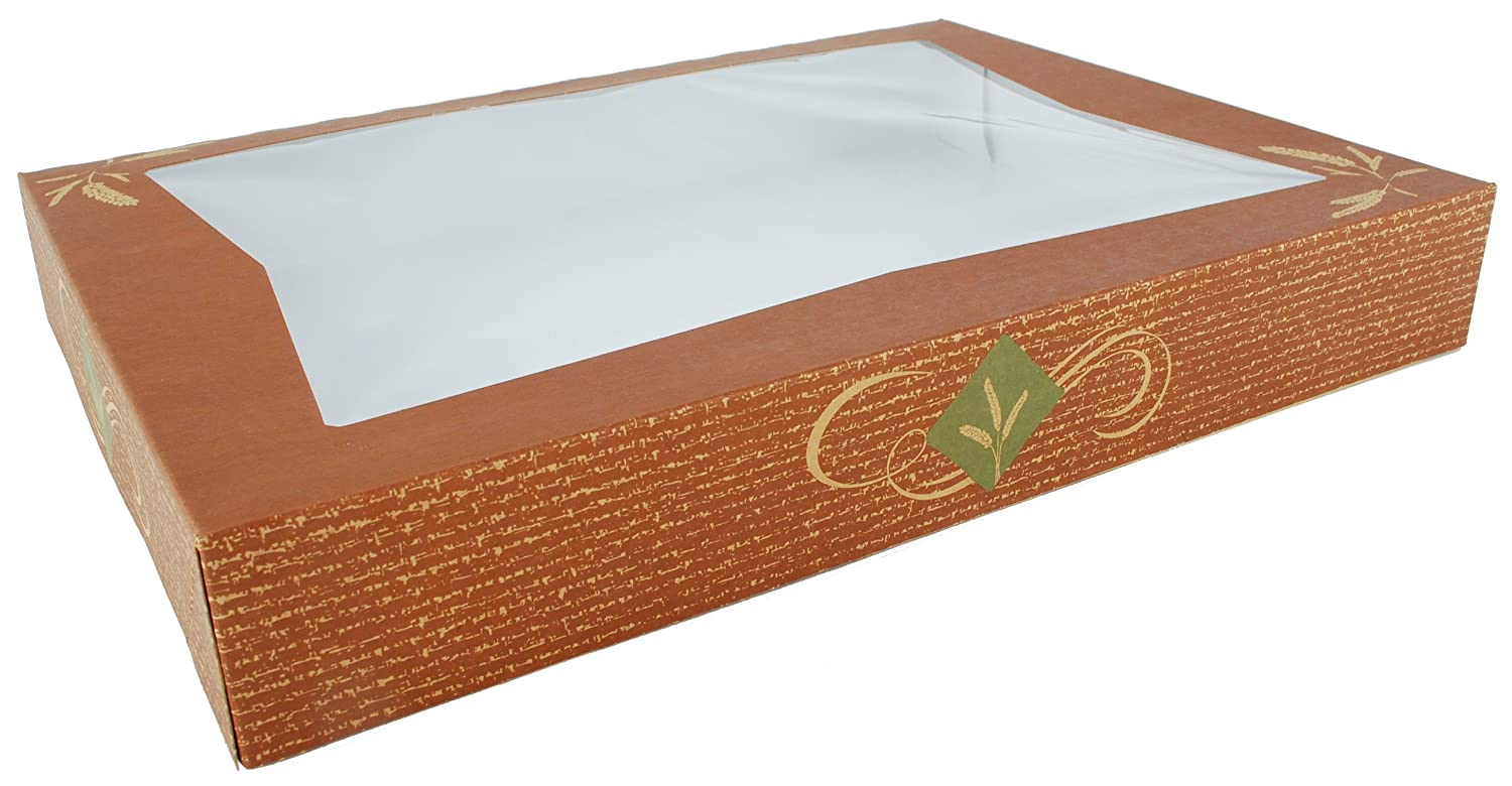 Southern Champion Tray 24546 Clay Coated Kraft Paperboard Hearthstone Window Bakery Box, 16 Length x 12 Width x 2-1/4 Height (Case of 100) norwegen sud norway southern 1 500 000