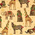 Entertaining with Caspari Continuous Roll of Gift Wrapping Paper, Wild Christmas Gold Foil, 8-Feet, 1-Roll