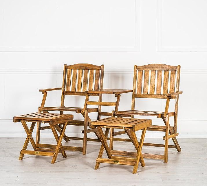Design Twist OM/194 Set da Giardino, Legno, 134 x 101.5 x 73.5 cm