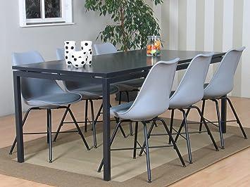 7tlg. Essgruppe PEAK Sitzgruppe Tischgruppe Esstisch Esszimmertisch