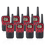 Midland T31VP 22 Channel FRS Walkie Talkie - Up to 26 Mile Range Two-Way Radio - Red/Black (Pack of 8) (Color: Red/black, Tamaño: 8 Pack)