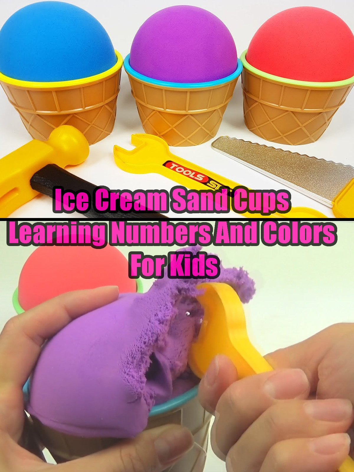 Ice Cream Sand Cups Learning Numbers And Colors For Kids