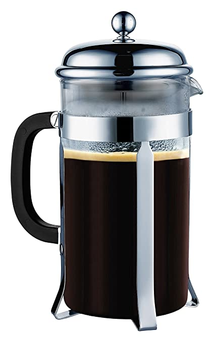 SterlingPro 8 Cup/4 Mug (1 liter, 34 oz) French Coffee Press-#1 With 2 BONUS Screen FREE(over $25 value)-Durable Coffee & Espresso Maker with Stainless Steel Plunger & Heat Resistant Glass---  at amazon