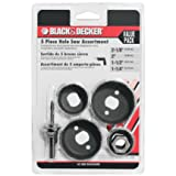 BLACK+DECKER 71-120 Hole Saw Assortment, 5-Piece