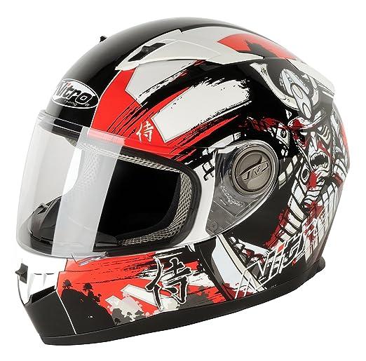 NITRO 187149L17 Casque Moto N2100 Samurai Rouge