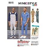 Simplicity Vintage US8615AA Vintage Jumpsuit & Overalls, AA (34-36-38-40-42) (Tamaño: AA (34-36-38-40-42))