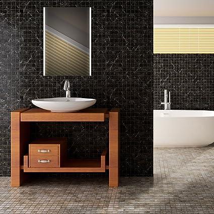 Specchio da bagno con illuminazione LED luce specchio Premium spgs02850x 70x 14cm Touch Sensor 22W con certificazione TÜV REIH Land LED specchio specchio da parete