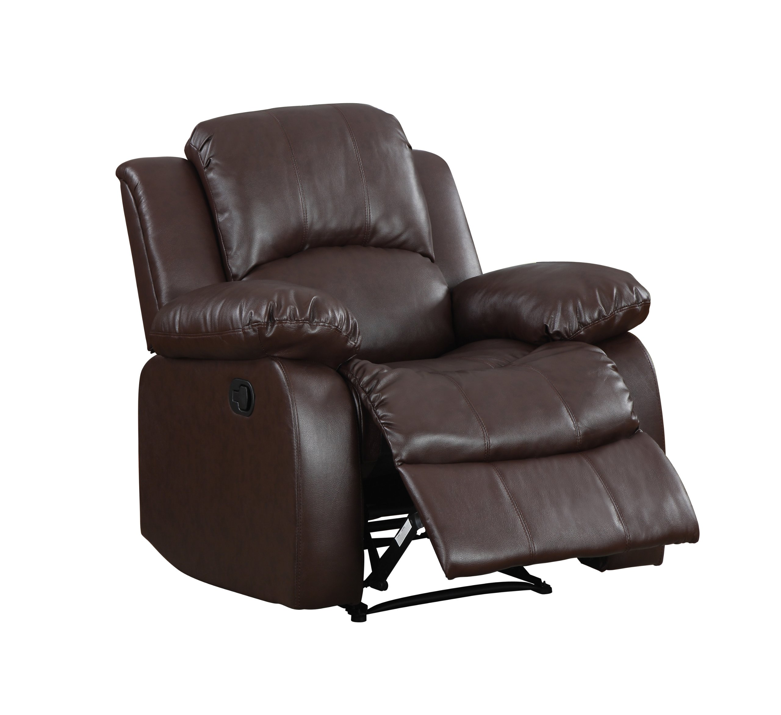 Dropship Home Decor Homelegance 9700brw 1 Upholstered Recliner Chair Warm