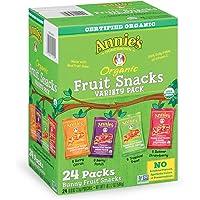 24-Pack Annie's Organic Bunny Fruit Snacks,0.8oz each