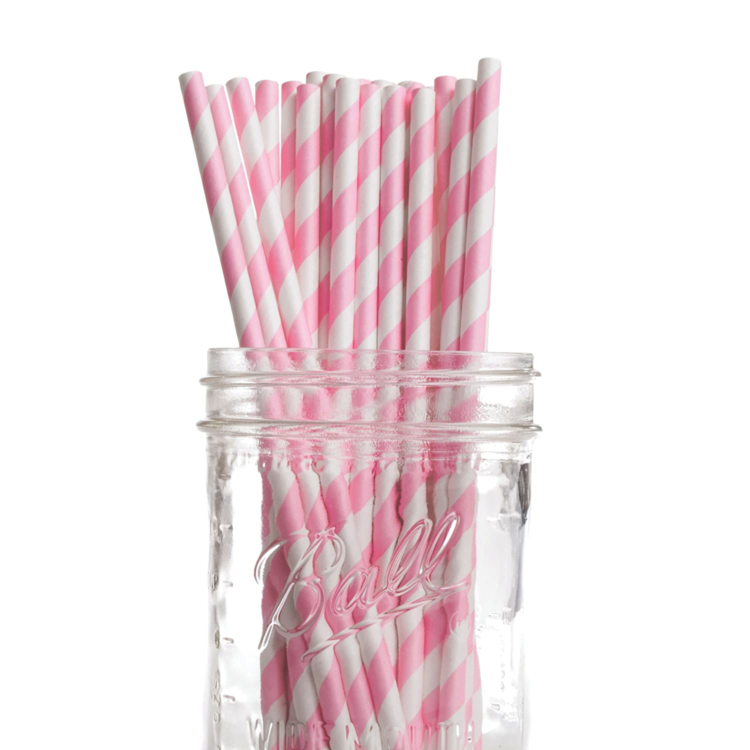Striped Straws Paper Buy Pink Striped Paper Straws
