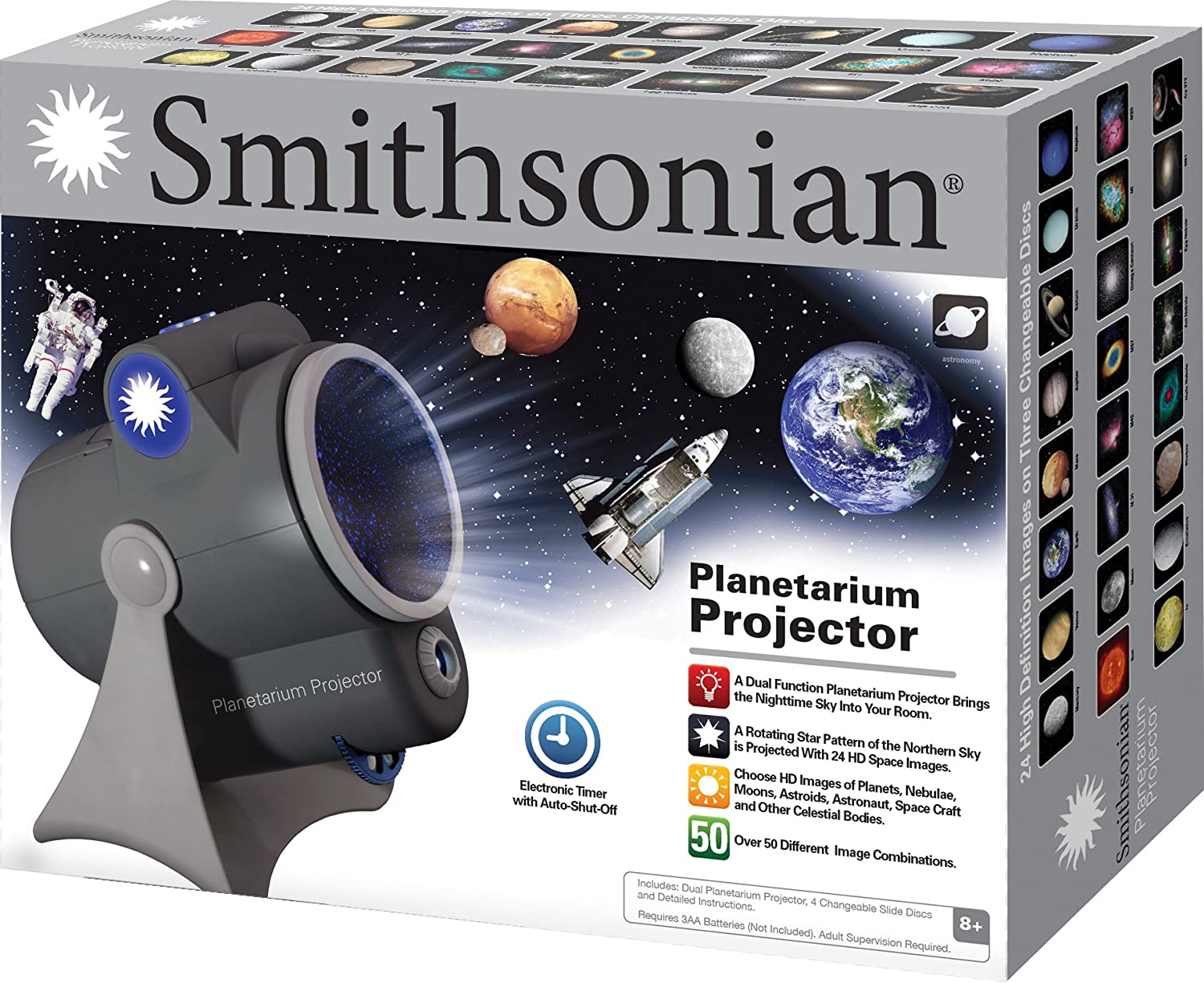 Bedroom planetarium projector for kids - Buy Smithsonian Optics Room Planetarium And Dual Projector Science Kit Black Blue Online At Low Prices In India Amazon In