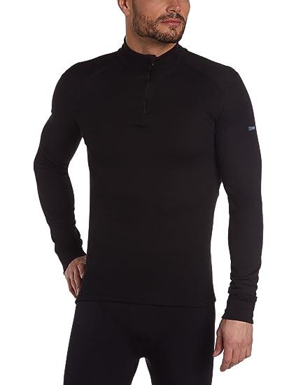 Odlo T-Shirt Termica Warm Maniche Lunghe Collo con Cerniera Nero Taglia XXXL