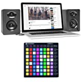 Novation LAUNCHPAD S MK2 MKII USB Music Controller Pad+Samson Monitor Speakers
