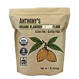 Anthony's Organic Almond Flour (1lb), Blanched, Gluten Free, Non-GMO (Tamaño: 1 Pound)