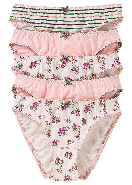 """5er-Pack Damenslips """"Röschen"""" Unterhosen Panti Slip im Multipack Größe: 36/38, 40/42, 44/46, 48/50, 52/54, 56/58 jetzt bestellen"""