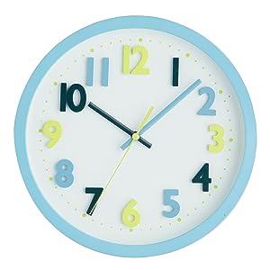 Premier Housewares - Reloj de pared (26 cm), color azul   Comentarios y más información