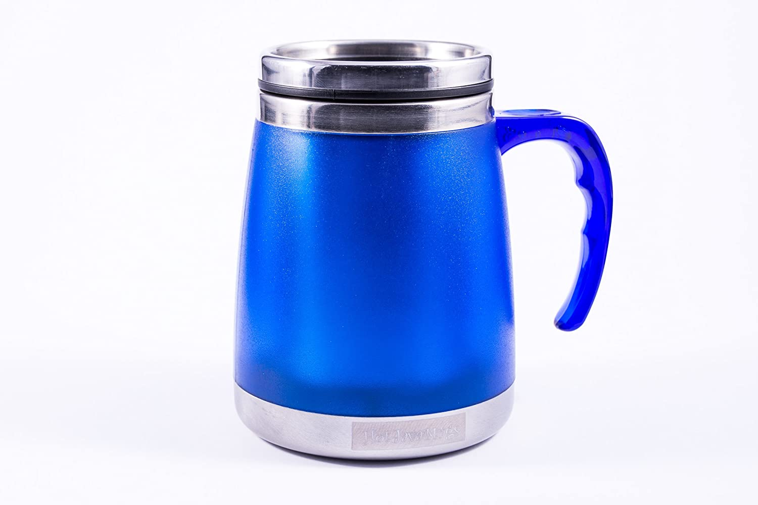 Wide Bottom 16oz Patterson Desk Mug, Blue