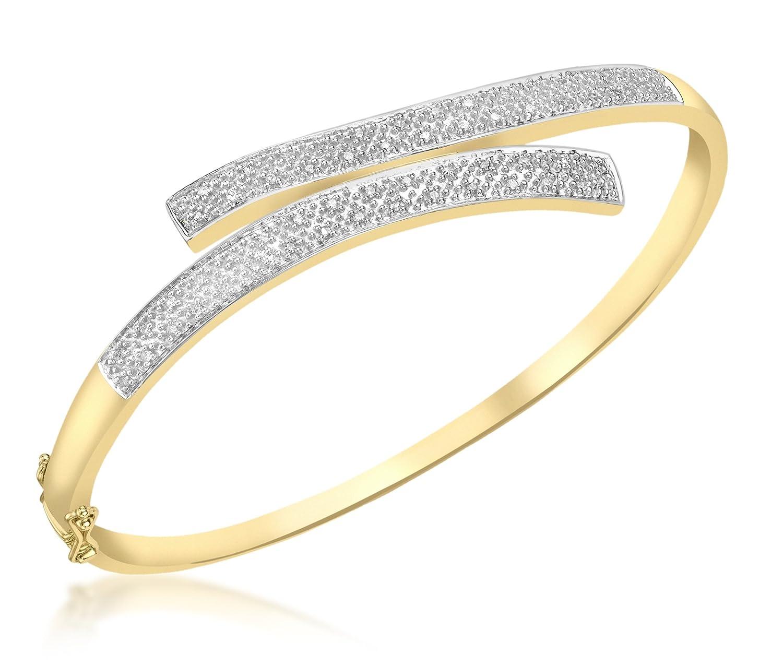 Carissima Gold Damen-Armreif 9 Karat 375 Gelb 0.25CT Diamant Pave 1.31.897G günstig online kaufen