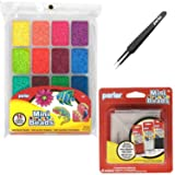 Perler Mini Beads Tray Bundle - Large Mini Bead Tray, Tweezers and Pegboards (Color: Large Tray)