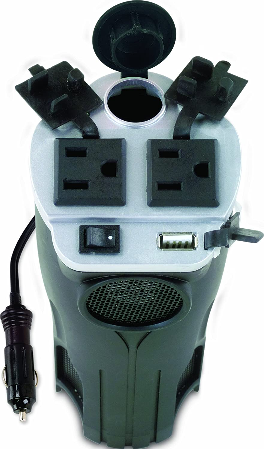 Cup holder power port