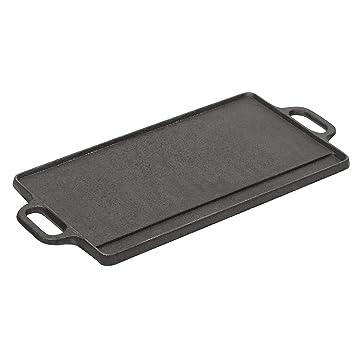 vonshef plaque de cuisson cuisson poele anti adh sive r versible grillette cuisine. Black Bedroom Furniture Sets. Home Design Ideas