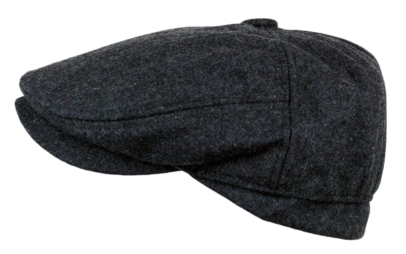 Men's 5 Panel Vintage Style Wool Blend Gatsby Ivy Newsboy Hat 2