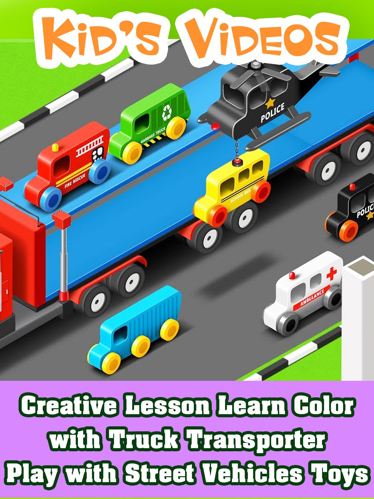 Creative Lesson Learn Color with Truck Transporter