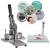 2-1/4 Inch NEIL Button Machine - Includes 100 Buttons (Tamaño: 2-1/4 in)