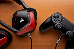 CORSAIR Void PRO Surround Gaming Headset - Dolby 7.1 Surround Sound Headphones for PC - Works with Xbox One, PS4, Nintendo Switch, iOS and Android - Red (Color: Red, Tamaño: Headset)