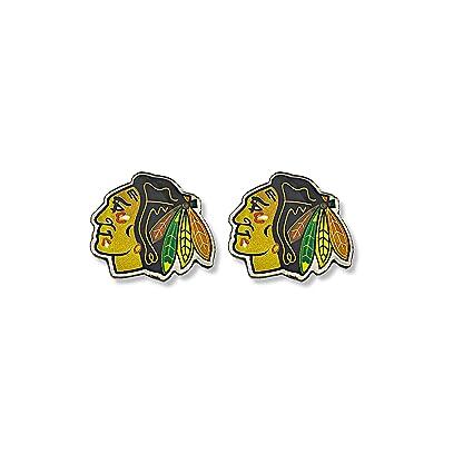 NHL Chicago Blackhawks Logo Post Earrings