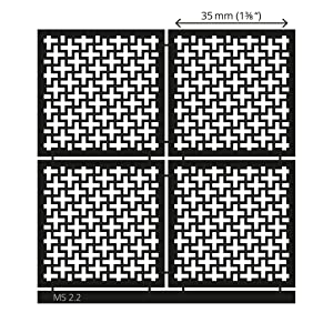 LUCY CLAY Microstencils Texture Sheets for Polymer Clay 3.12 x 3.12 5-pcs Set (Microstencils Set 2) (Color: Microstencils SET 2)