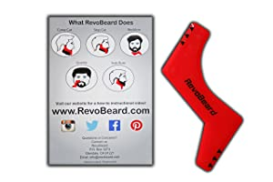 RevoBeard Beard Trimmer Kit - The Original Shaving Grooming Stencil - Save Money Haircuts - Barber Supplies - Styling Shaper - Neckline Template - Edge Up Guide Tool - Curve/Step Cut - Perfect Goatee
