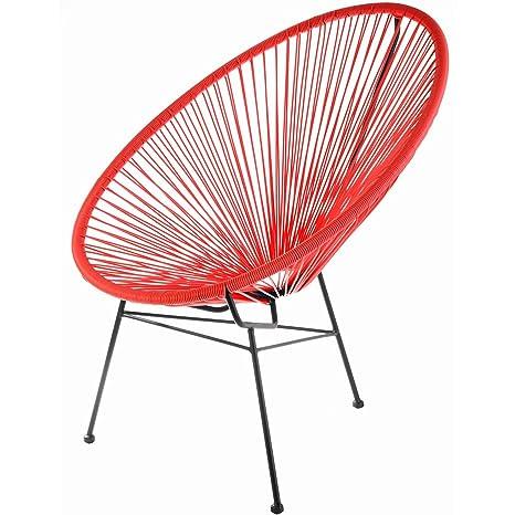 LA CHAISE LONGUE - Chaise acapulco rouge la chaise longue
