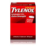 Tylenol Extra Strength Caplets with Acetaminophen for Fever & Pain Relief, 50 Travel Packs of 2 ct.