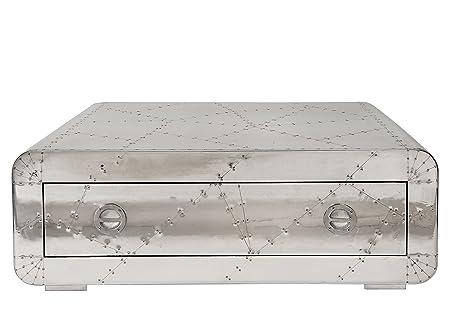 Sit-Möbel 1783-21 mesa de café de las fuerzas aéreas, 1 cajón, con tornillos de metal ornamentales provista de, aproximadamente 120 x 80 x 40 cm