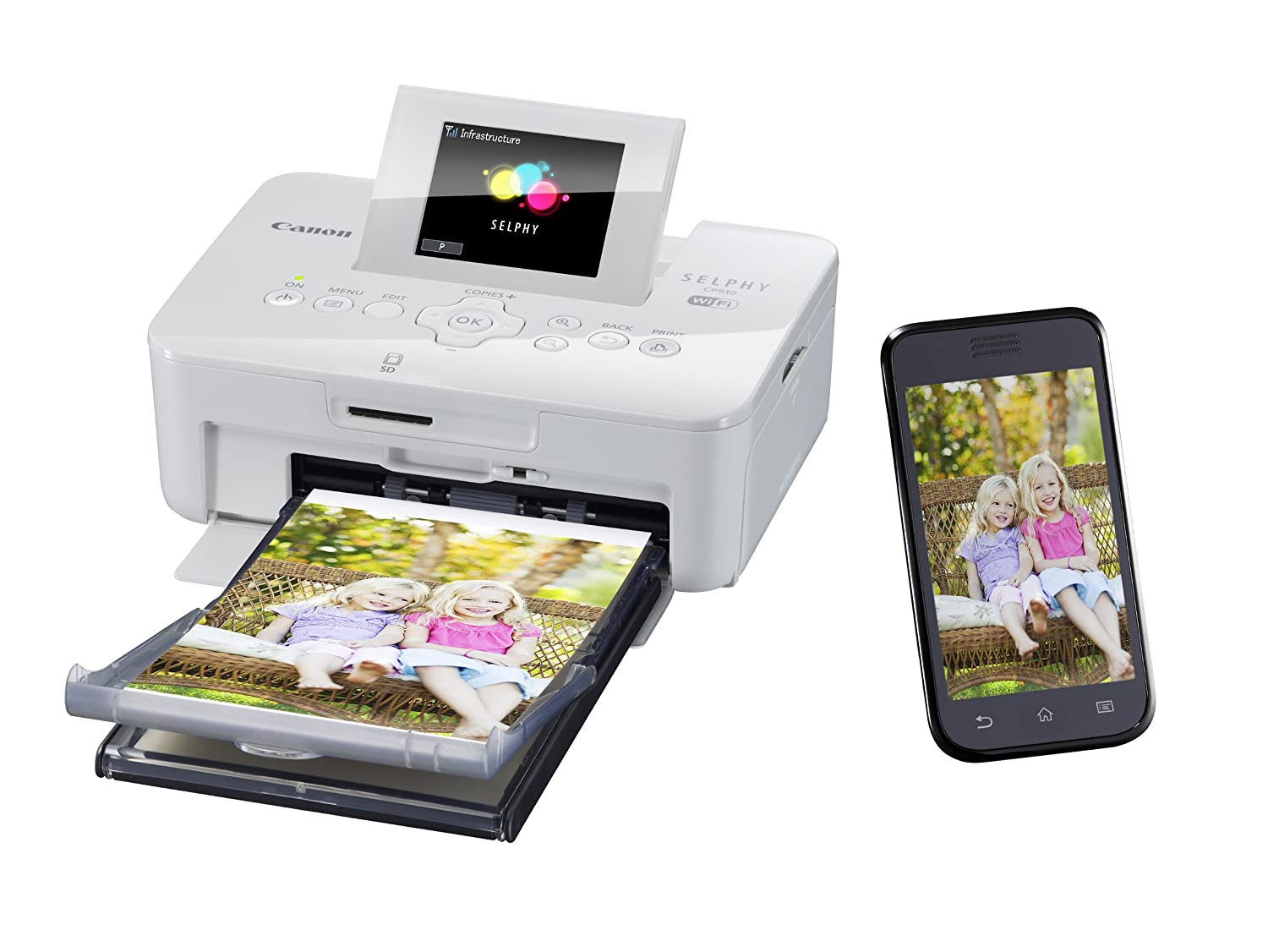 buy canon selphy cp910 portable wireless compact color photo printer white online at low price in india canon camera reviews ratings amazonin - Canon Selphy Color Ink Paper Set