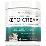Keto Cream: Sugar Free Perfect Keto Coffee Creamer Powder with Vegan MCT Oil Powder, Stevia Sweetened Keto Creamer for Coffee | Low Calorie, Non Dairy Ketogenic Coffee Booster, Toasted Coconut, 30 srv (Color: Toasted Coconut, Tamaño: 30 Servings)