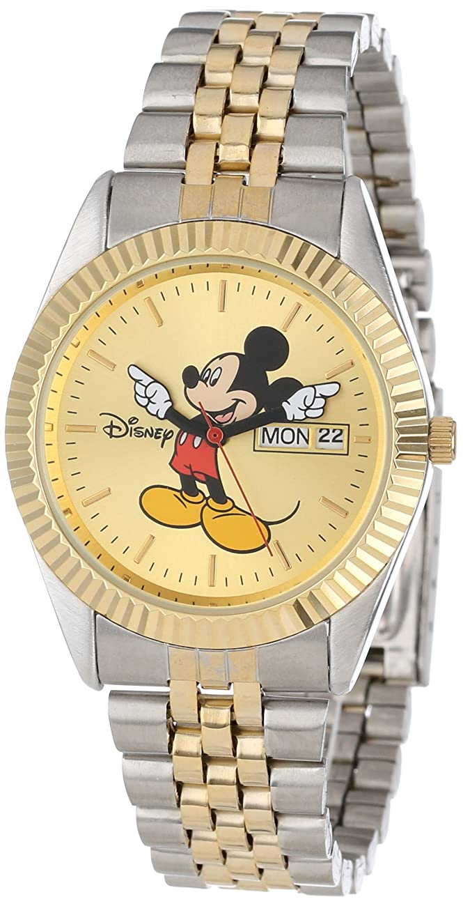 Disney Men's MM0060 Two-Tone Mickey Mouse Watch with Day and Date Movement 0