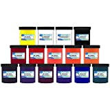 Ecotex Water Based Discharge Ink KIT for Screen Printing - 14 Pints of Ink Includes Discharge Activator - Fabric/Textile Ink (Color: Multi, Tamaño: pint)