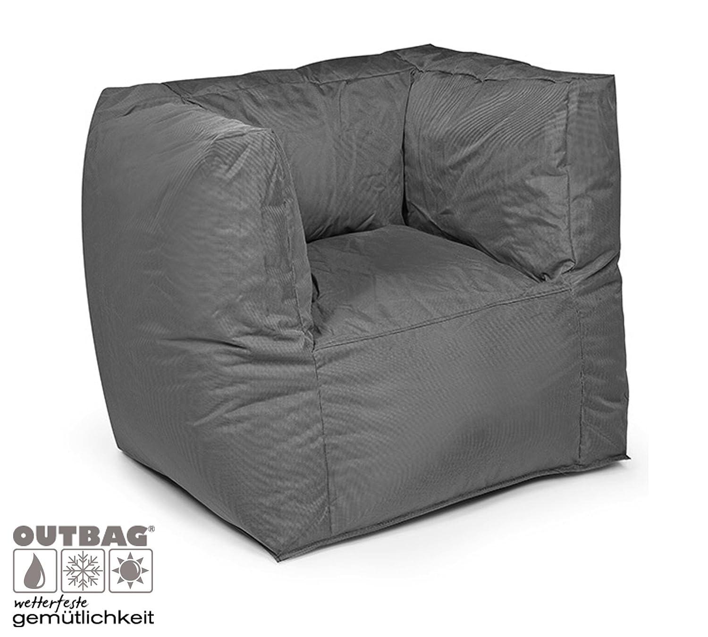 Design Outbag Fabric Valley Sitzsessel 90 x 60 cm Kunststoff Farbe wählbar, Farbe:Anthrazit online bestellen