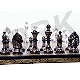 Brass Chess Set For Adults Large Chess Sets and Board Chess Game Pieces Collectible Chess Board Hand Carved Game Boards 12
