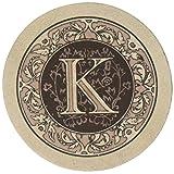 Thirstystone Drink Coaster Set, Monogram K
