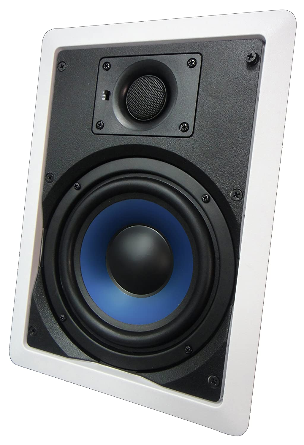 "652W Silver Ticket 6.5"" 80-Watt 2-Way In-Wall Speaker with Pivoting Tweeter (1 Speaker, White)"