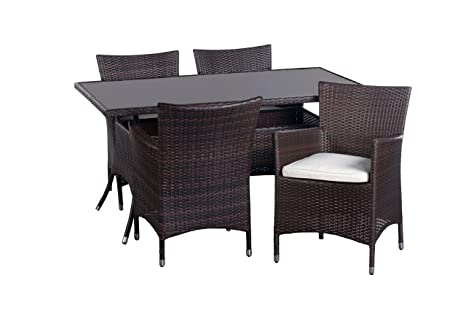 Homestyle 46041 Diningset Monaco 5-er packung steel frame naturel