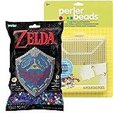 Perler Pattern Bag - Zelda Hylian Shield with 6 Large Pegboards (Color: Zelda Hylian Shield)