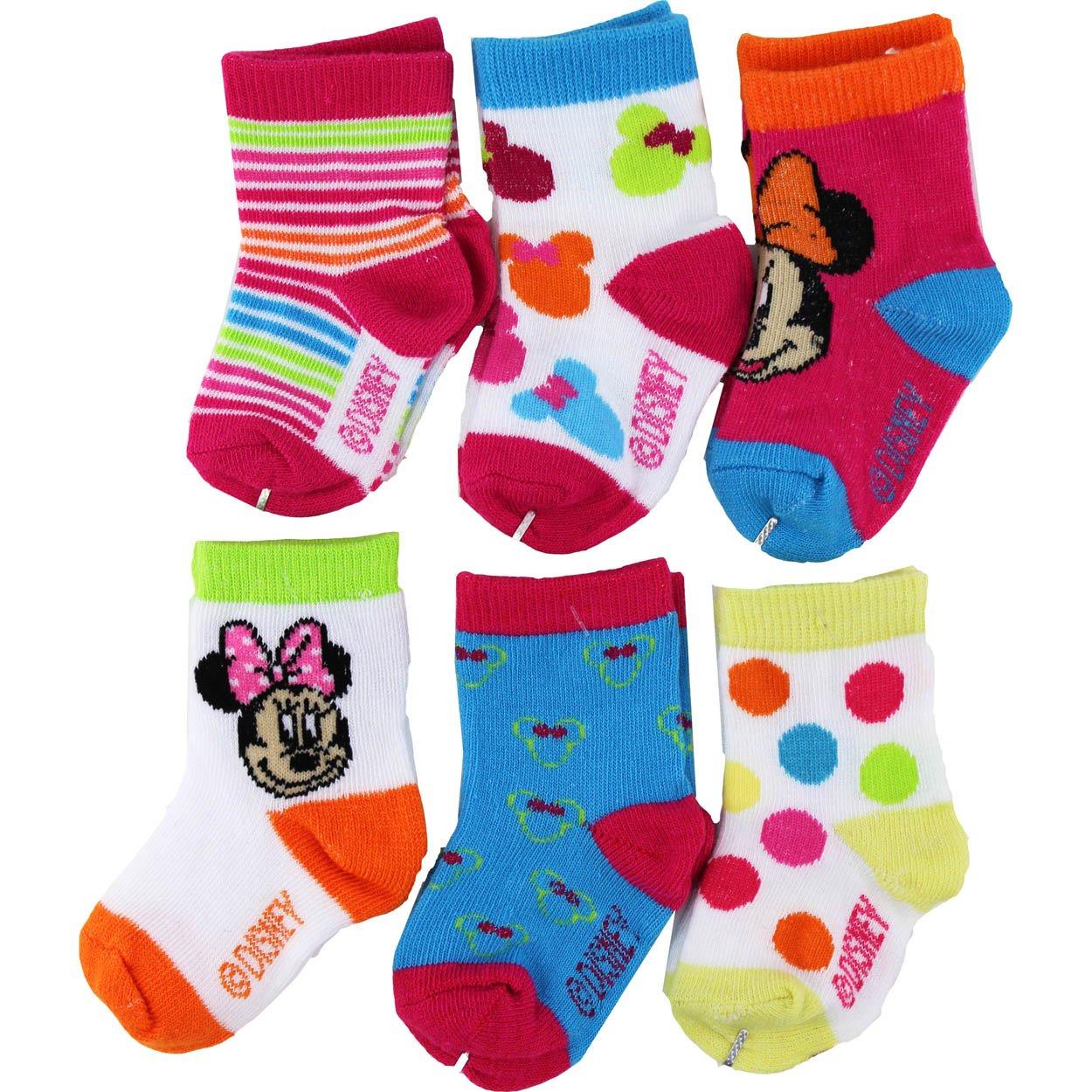 "Товар для детей Disney Minnie Mouse ""All Things Minnie"" 6-Pack Infant Crew Socks"