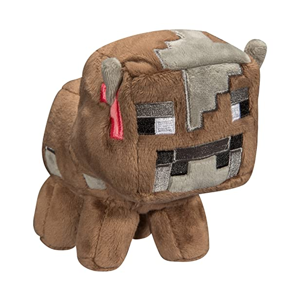JINX Minecraft Baby Cow Plush Stuffed Toy (Multi-Color, 5.5 Tall) (Color: Multi-colored, Tamaño: 7-inch)