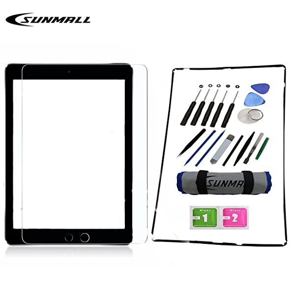 Tablets Screen Front Touch Glass Assembly for iPad 2 A1395 A1397 A1396 Black