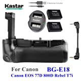 KASTAR PRO MULTI-POWER VERTICAL BATTERY GRIP 2X LP-E17 Baterías de repuesto Kit de cargador doble USB para Canon EOS 77D, EOS 800D, Rebel T7i, Kiss X9i Cámaras digitales SLR